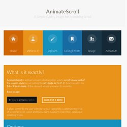 AnimateScroll - jQuery Plugin for Animating Scroll