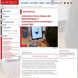 Animateur.trice réseau de bibliothèques / Animateur.trice numérique - Luçon (85)