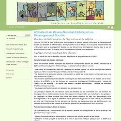 Animateurs du Réseau National d'Education au Développement Durable - Éducation au développement durable