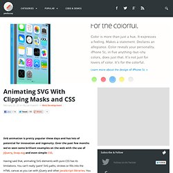 Animating SVG With Clipping Masks and CSS