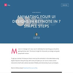 Animating your UI designs in Keynote in 7 simple steps