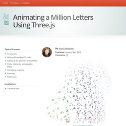 Animating a Million Letters Using Three.js