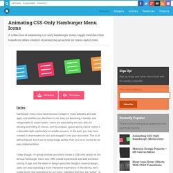 Animating CSS-Only Hamburger Menu Icons