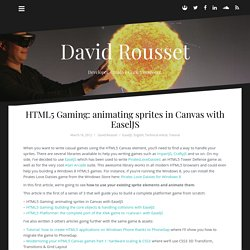 HTML5 Gaming: animating sprites in Canvas with EaselJS – David Rousset