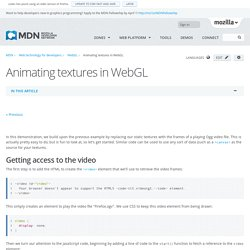 Animating textures in WebGL - WebGL