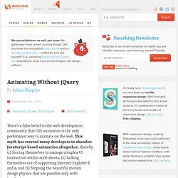 Animating Without jQuery