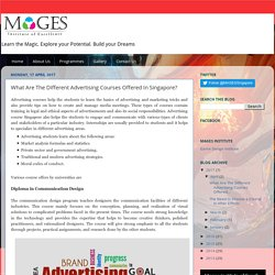 Mages Singapore: What Are The Different Advertising Courses Offered In Singapore?