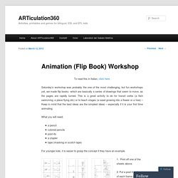Animation (Flip Book) Workshop