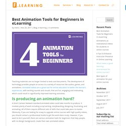 Best Animation Tools for Beginners in eLearning - F.learning Studio