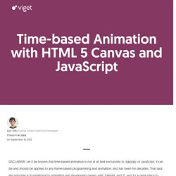 Time-based Animation with HTML 5 Canvas and JavaScript