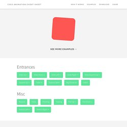 CSS3 Animation Cheat Sheet - Justin Aguilar