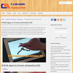 8 Web Apps to Create Animation Gif - Codeable Magazine