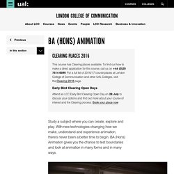 BA (Hons) Animation - London College of Communication - UAL