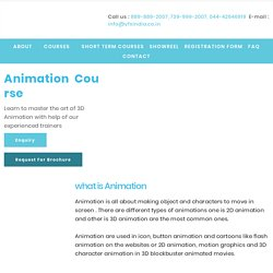 Master #1 Animation Courses in Chennai
