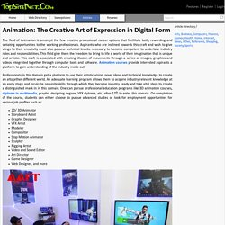 Animation: The Creative Art of Expression in Digital Form