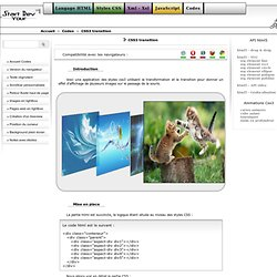 Animation css3 : Cartes