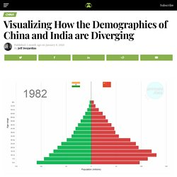 Animation: How the Demographics of China and India are Diverging