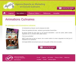 Agence Apetit - Animation culinaire - Démonstration de chef - Road show cuisine - Trade marketing cuisine - apetit.fr