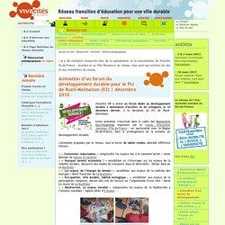 Animation d'un forum du développement durable pour le PIJ de Rueil-Malmaison (92)