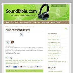 Flash Animation Sounds