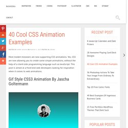 40 Cool CSS Animation Examples