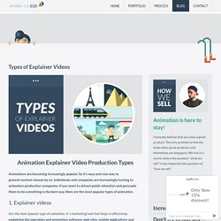 Animation Explainer Video Production for Companies & It's Types