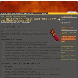 « Mageek Studio », tout un studio dédié au film d'animation sur une clé USB (...) - Festival des Petites Lanternes Magiques