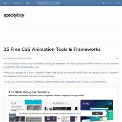 CSS Animation Tools, Frameworks & Tutorials