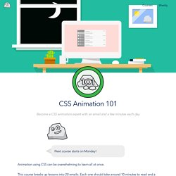 CSS Animation 101 - Learn how to add animation to web pages using CSS