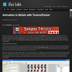Animation in LibGdx with TexturePacker