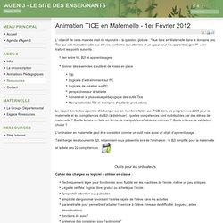Animation TICE en Maternelle - 1er Février 2012