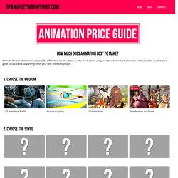Animation Price Guide and 3D VFX Cost Calculator