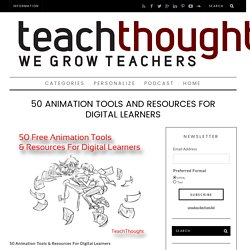 50 Free Animation Tools And Resources For Digital Learners