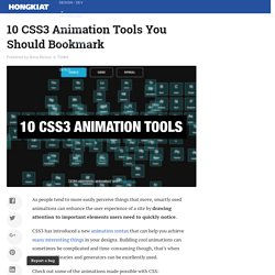 10 CSS3 Animation Tools You Should Bookmark