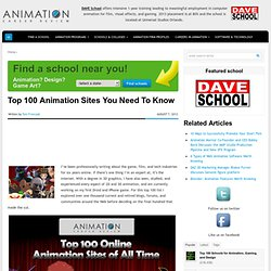 Top 100 Animation Sites You Need To Know
