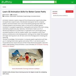 Learn 3D Animation Skills for Better Career Paths