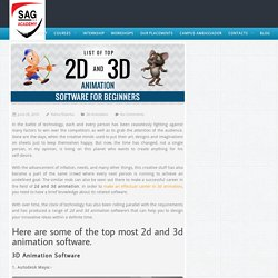 Most Effective 2D and 3D Animation Software for Beginners