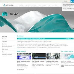Maya - 3D Animation, Visual Effects & Compositing Software