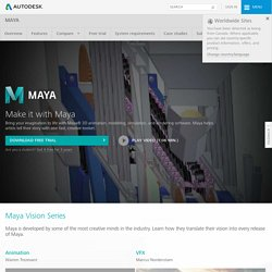 Maya 3D Animation, Visual Effects, and Compositing Software