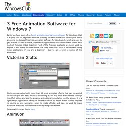 3 Free Animation Software for Windows