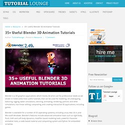 35+ Useful Blender 3D Animation Tutorials