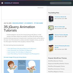 35 jQuery Animation Tutorials