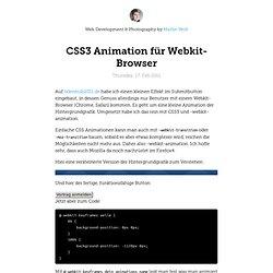 CSS3 Animation für Webkit-Browser | visuelleGedanken.de