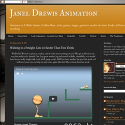 Janel Drewis Animation: Walking in a Straight Line is Harder Than You Think