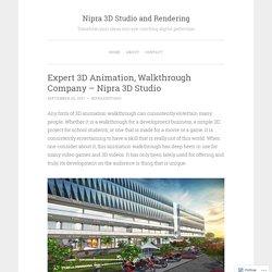Expert 3D Animation, Walkthrough Company – Nipra 3D Studio
