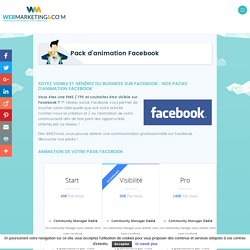 Animation de page Facebook pour PME par Webmarketing & co'm