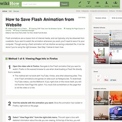 3 Ways to Save Flash Animation from Website
