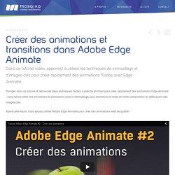 Créer des animations et accelerations avec Adobe Edge Animate
