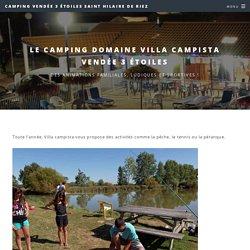 animations Camping Villa Campista 3 étoiles Saint Hilaire de riez