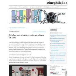 Octobre 2015 : séances et animations du CDI